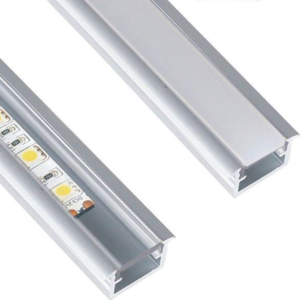 10 x 2m Inline Mini Alumiini Profiili