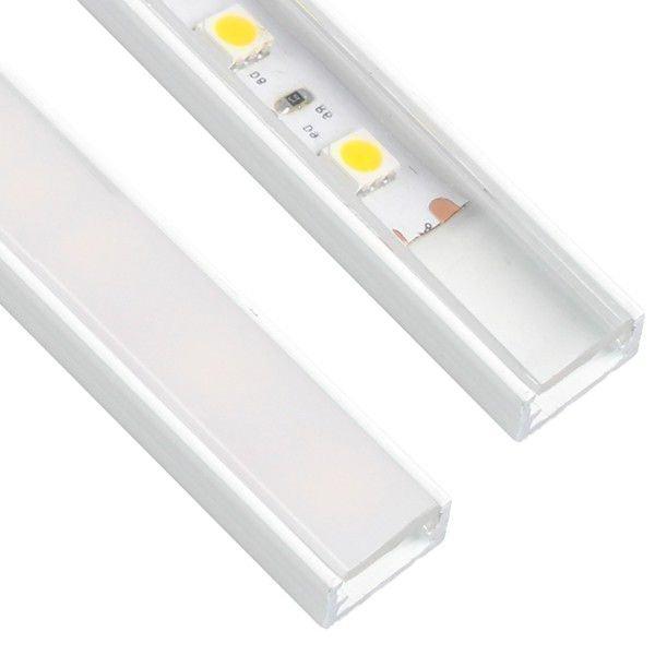 10 x 2m Line Mini Alumiini Profiili Valkoinen
