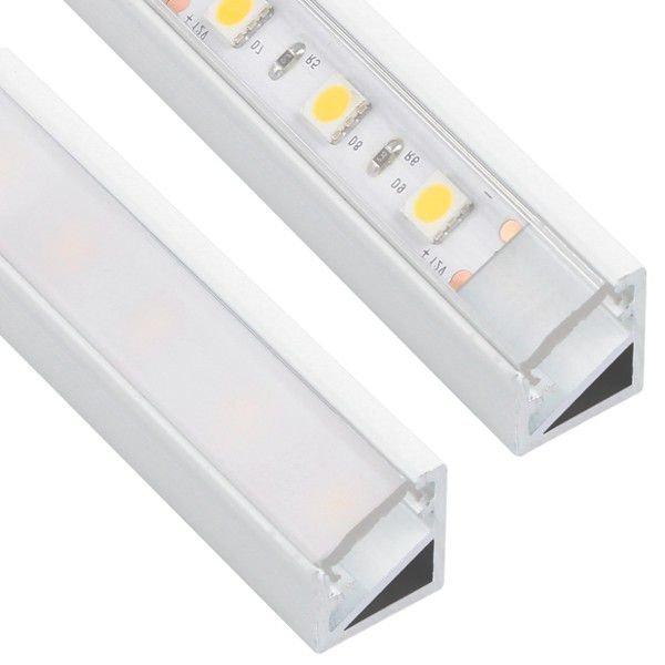 10 x 2m V-line mini White Alu-profil