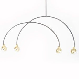 101 Copenhagen Arc Pendant Lamp Mobile Kattovalaisin Messinki