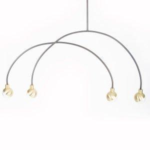 101 Copenhagen Arc Pendant Lamp Mobile Kattovalaisin Messinki