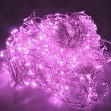 10M LED Jouluvalot Pinkki