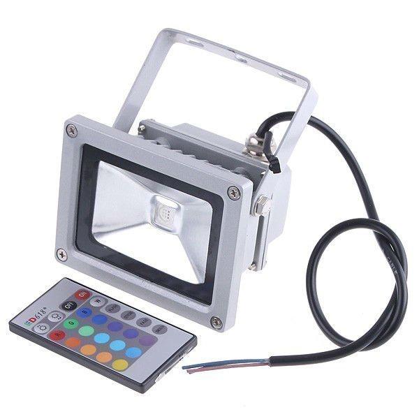 10W RGB Valonheitin kaukosäätimellä