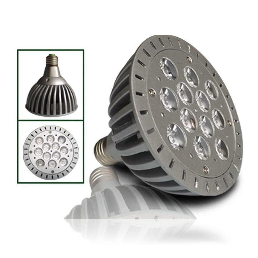 12W Korkealuokkainen LED Kasvatusvalo Lamppu E27