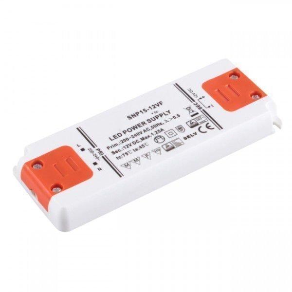 15W Korkealuokkainen LED Virtalähde 12V DC