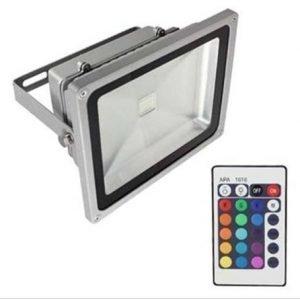 20W RGB LED-Valonheitin Kaukosäätimellä
