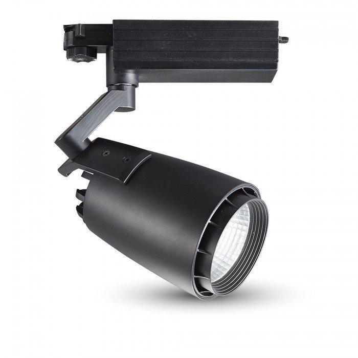 33W 3-Vaihe LED Kisko Kohdevalo Musta