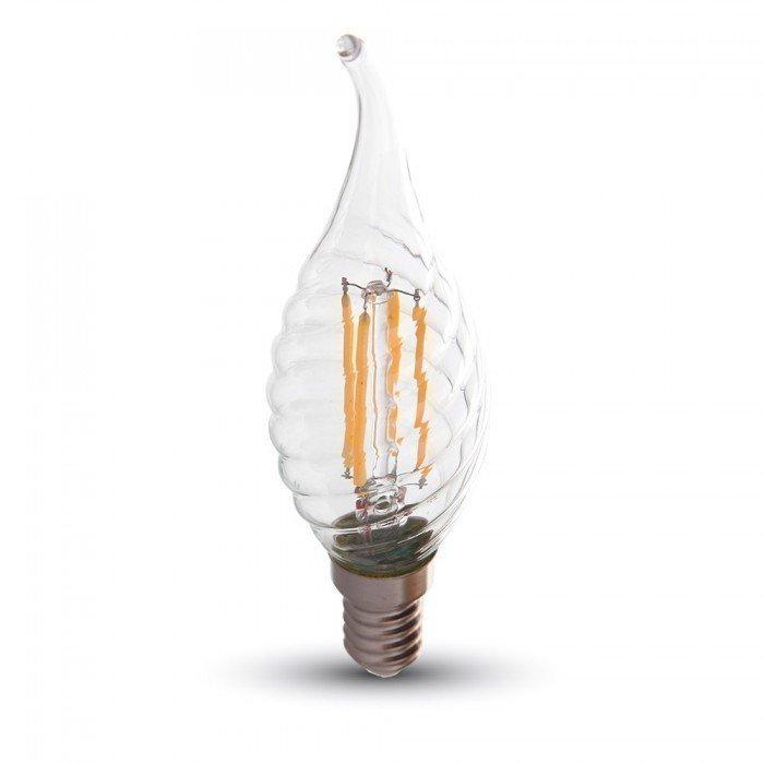 4W Himmennettävä Kierre Liekki Kynttilä LED Lamppu E14