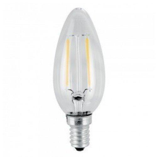 4W Kynttilä Hehkulanka LED Lamppu E14