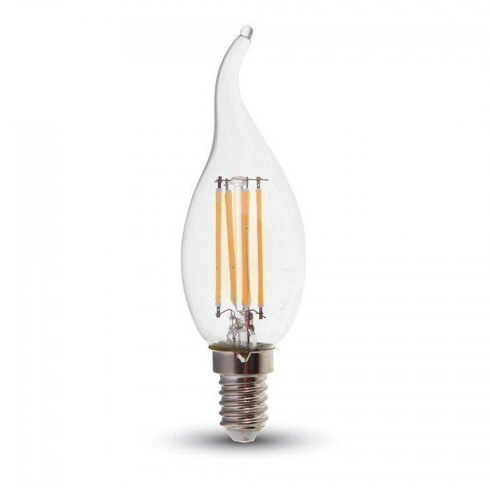 4W Liekki Sydän LED Lamppu Himmennettävä E14