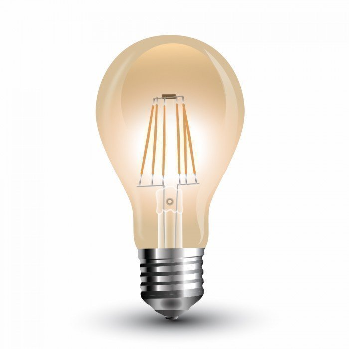 4W Vanhanaikainen A60 LED Hehkulamppu E27