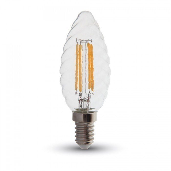 4W Vanhanaikainen Kierre Kynttilä LED Lamppu E14
