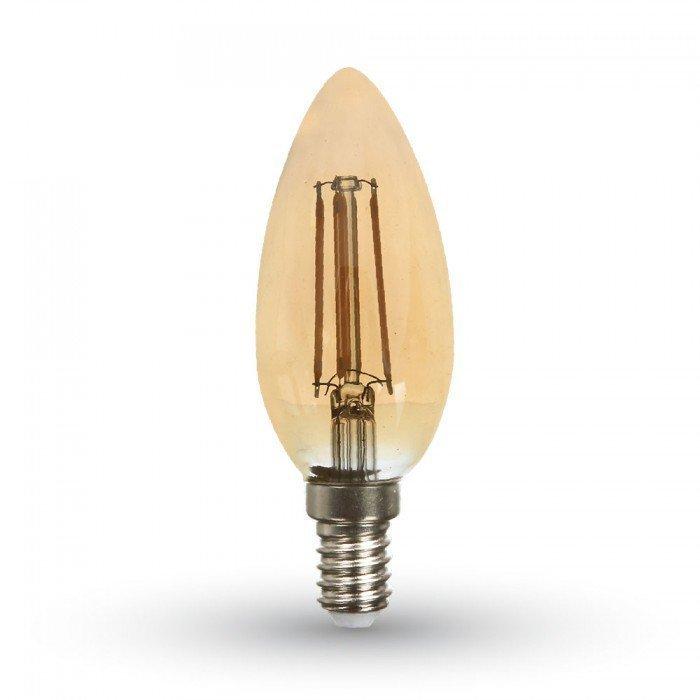 4W Vanhanaikainen Kynttilä LED Hehkulamppu E14