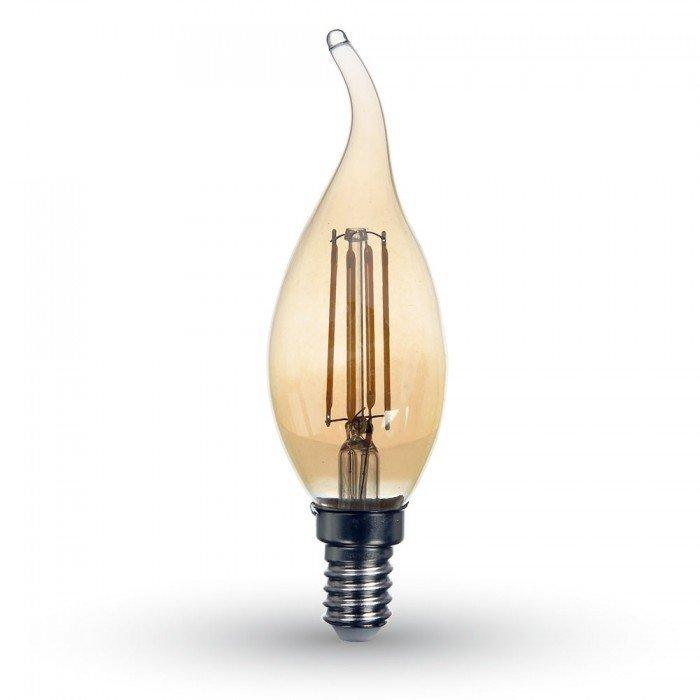 4W Vanhanaikainen Liekki LED Hehkulamppu E14