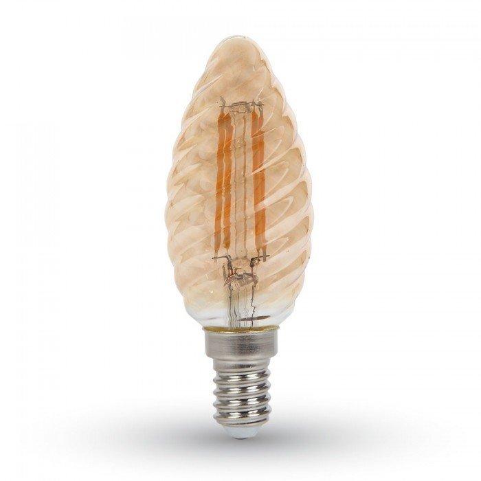 4W Vanhanaikainen Spiraali Kynttilä LED Hehkulamppu E14
