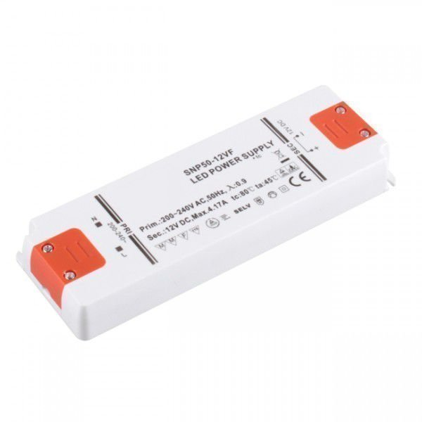 50W Korkealuokkainen LED Virtalähde 12V DC