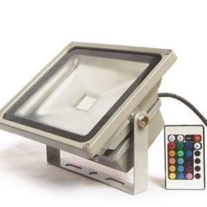 50W RGB LED Valonheitin Kaukosäätimellä