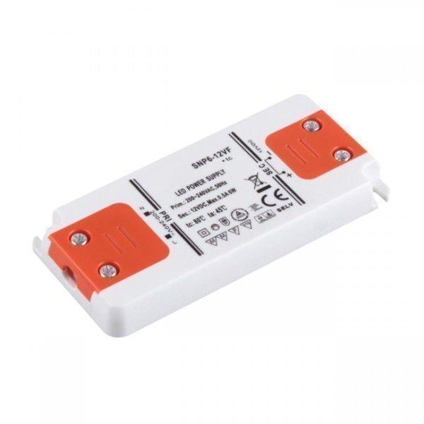 6W Korkealuokkainen LED Virtalähde 12V DC