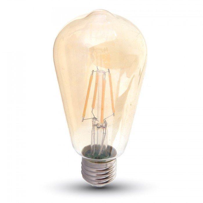 6W ST64 Vanhanaikainen LED Lamppu E27