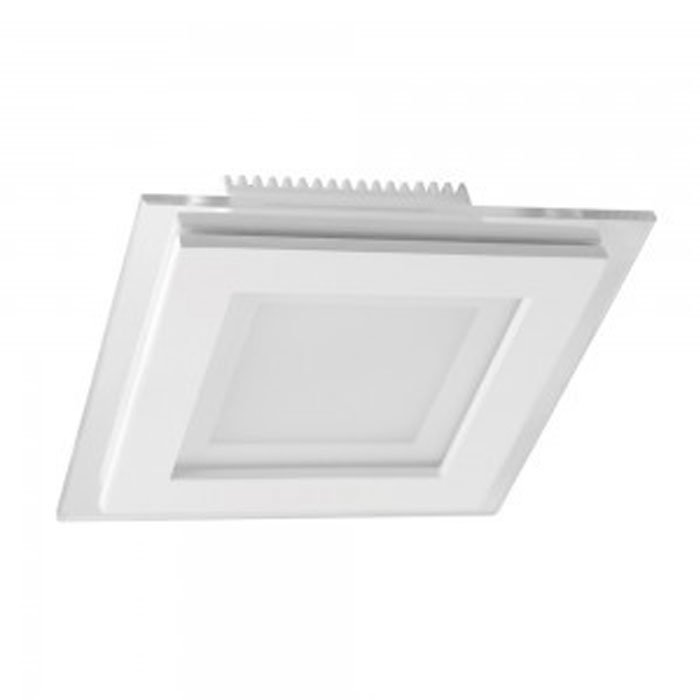 6W Square Glass LED Downlight with Driver