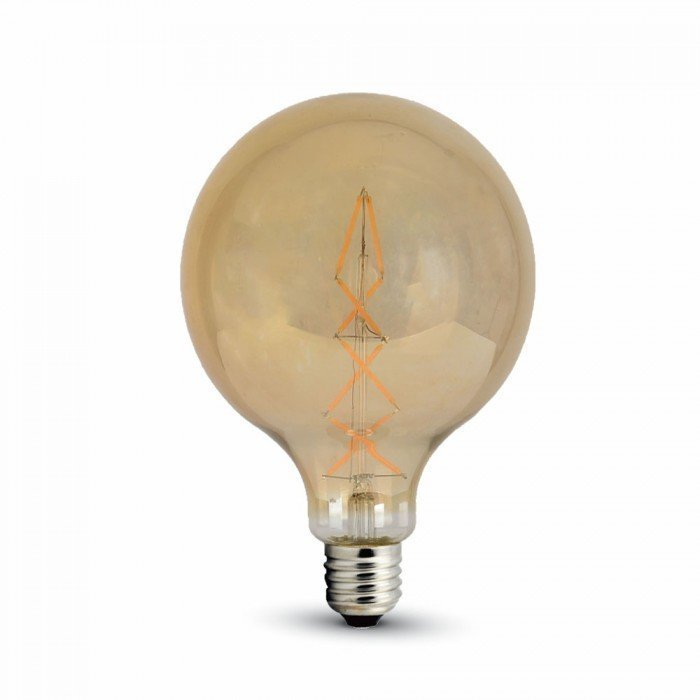 8W Vanhanaikainen G125 LED Hehkulamppu E27