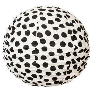 Afroart Big Dot Lampunvarjostin Musta / Valkoinen 50 Cm