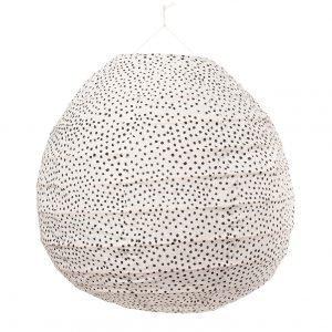 Afroart Fleck Lampunvarjostin Valkoinen / Musta 40x41 Cm