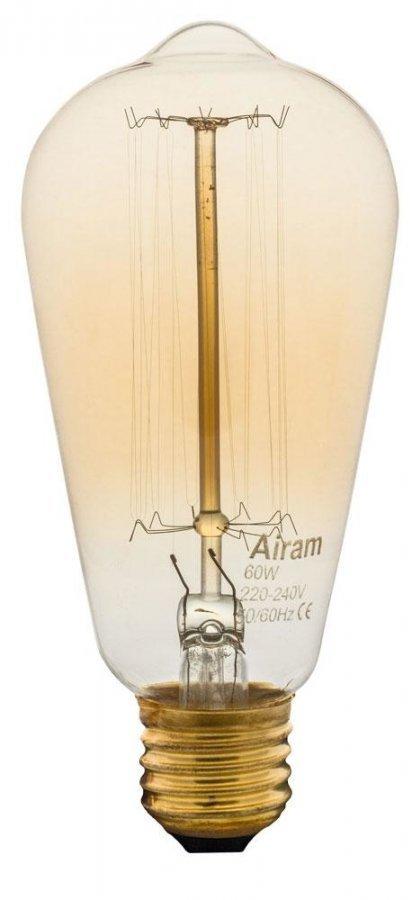 Airam Antique Edison Hiililankalamppu E27 60 W