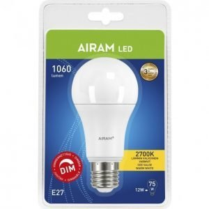 Airam Led Lamppu 12 W E27 Vakio 1060 Lm Himmennettävä