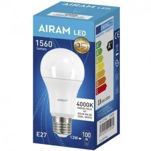 Airam Led Lamppu 13 W E27 Vakio Op 1560 Lm 4000k
