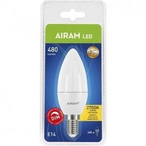 Airam Led Lamppu Kynttilä 6 W E14 470 Lm Himmennettävä
