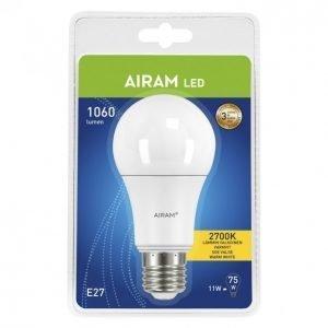 Airam Led Lamppu Vakiokupu 11 W E27 1060 Lm