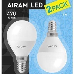 Airam Led Mainoslamppu E14 5 W 2-Pakkaus