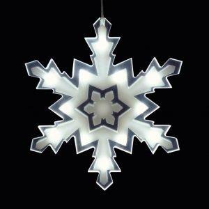 Airam Lumihiutale Led Koristevalo 23 Cm 12-Osainen