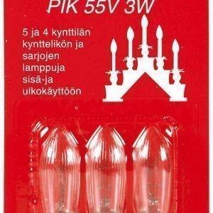 Airam Varalamppu 3w 55v Pik E10