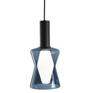 Airam Wirkkala K2-135 Valaisin Savunsininen Lasi + Lamppu