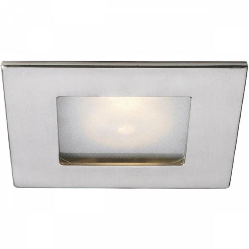 Alasvalo Inset Trend 75 Square Opal 50W GU10 IP44 30° 105x105x120 mm harjattu alumiini