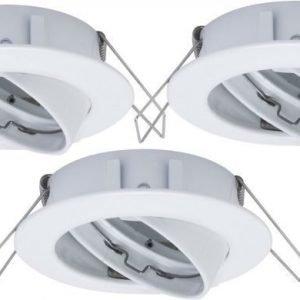 Alasvalojen kehyssetti 2Easy Spot-Set Premium 3 kpl IP23 Ø 83 mm valkoinen suunnattava