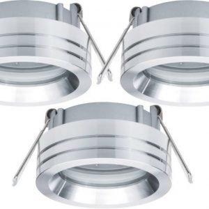 Alasvalojen kehyssetti 2Easy Spot-Set Premium 3 kpl IP23 Ø 84x27 mm alumiini suunnattava