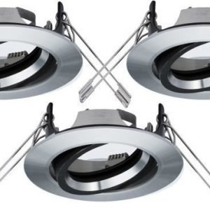Alasvalojen kehyssetti 2Easy Spot-Set Premium 3 kpl IP23 Ø 85 mm alumiini suunnattava