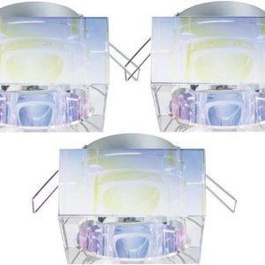 Alasvalojen kehyssetti 2Easy Spot-Set Premium 3 kpl IP23 40x80x80 mm dichroic-lasi