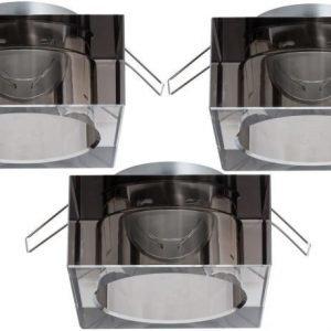 Alasvalojen kehyssetti 2Easy Spot-Set Premium 3 kpl IP23 40x80x80 mm savulasi