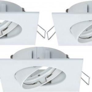Alasvalojen kehyssetti 2Easy Spot-Set Premium 3 kpl IP23 90x90 mm valkoinen suunnattava