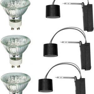Alasvalojen perussetti 2Easy Basic Set LED 3 kpl 3x1 W GU10 3000K 3x35lm