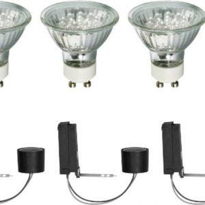 Alasvalojen perussetti 2Easy Basic Set LED 3 kpl 3x1 W GU10 6500K 3x35lm