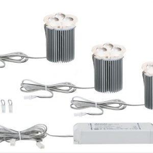 Alasvalojen perussetti 2Easy Basic Set LED 3 kpl 3x5W 3000K 3x210 lm