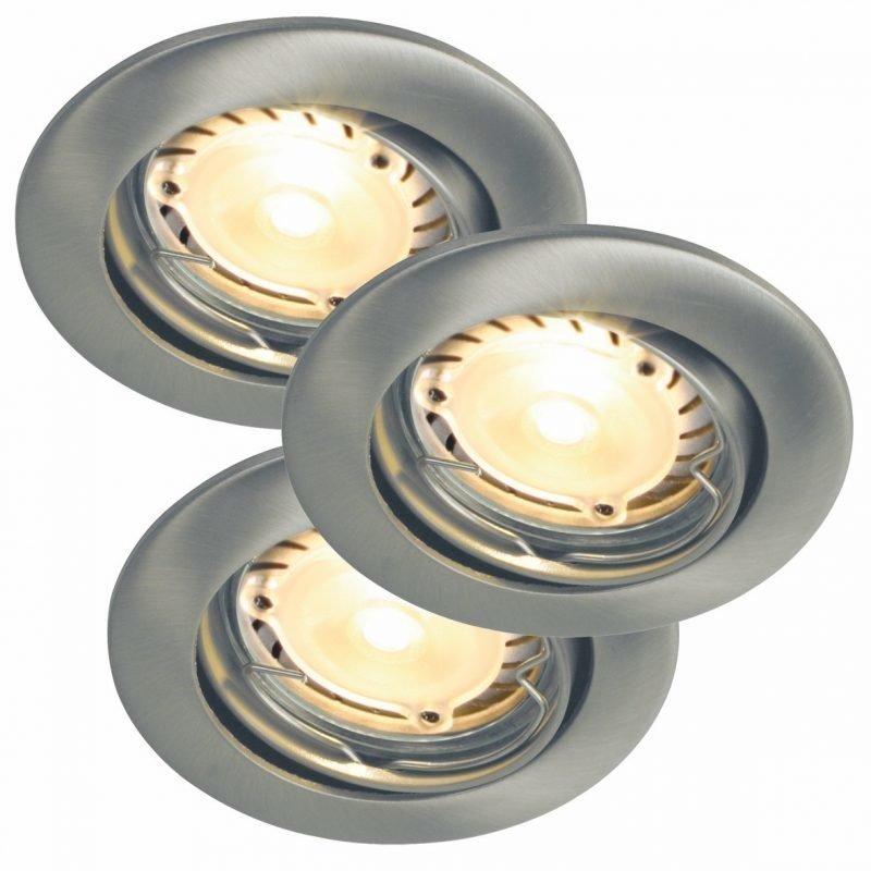 Alasvalosarja Triton 3-Kit LED Hi-Power Ø 90x110 mm 3 kpl harjattu teräs