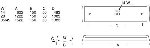 Allfive 33414 FDH 2x28W opaalikupu