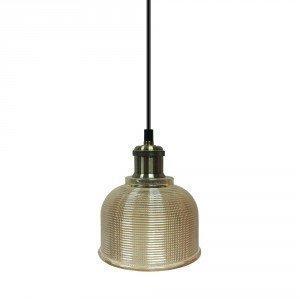 Amber Glass LED Pendant