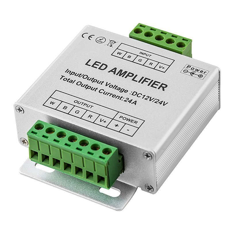 Amplifier for RGB+White LED Strip